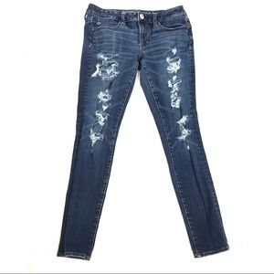 American Eagle distressed jeggings skinny jeans